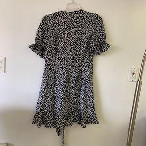 "stelly Dresses - Stelly ""Melissa"" Black Floral Wrap Dress"
